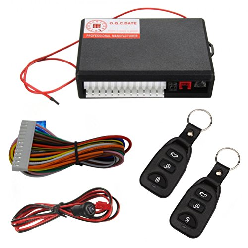 Vankcp Car Central Lock, Keyless Entry Alarm System, Auto Remote Central Kit Vehicle Door Lock with 2 Remote Controllers ()