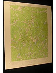 Plympton Massachusetts North Carver 1958 vintage USGS original Topo chart map