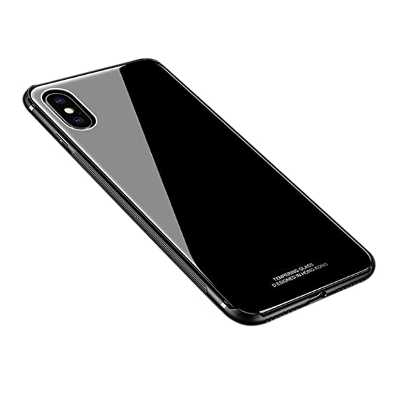 iphone xs case tempered glass