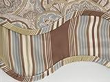 Waverly Paddock Shawl Paisley Stripe Scallop Window Valance – Pearl For Sale