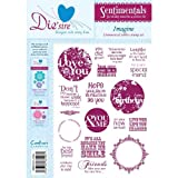 Crafters Companion Die'sire Sentimentals Rubber Stamps - Imagin