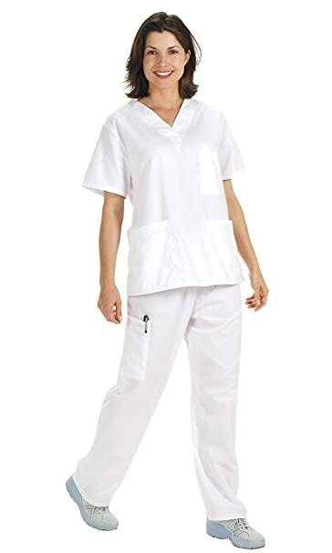 NCD Medical/Prestige Medical 50309-1 - Camisa de uniforme médico, color blanco, talla M: Amazon.es: Industria, empresas y ciencia