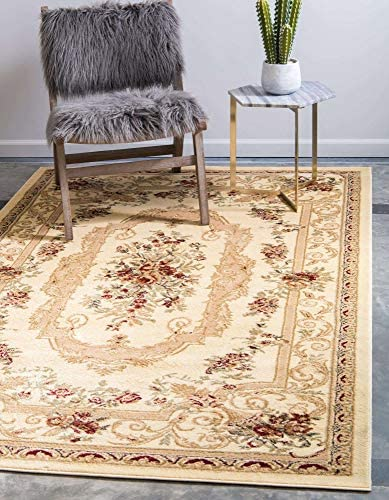 Unique Loom Versailles Collection Traditional Classic Cream Area Rug 10 0 x 13 0