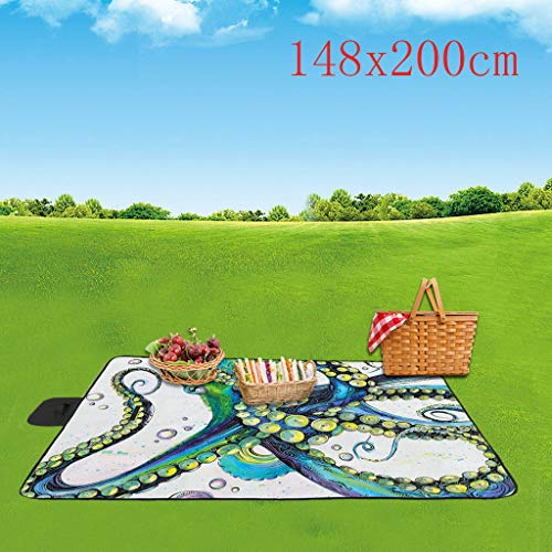 Price comparison product image iSkylie Picnic Outdoor Blanket Layers for Outdoor 3D Digital Printing Handy Mat Tote for The Beach Camping on Grass Waterproof Sandproof (A2-148x200cm)