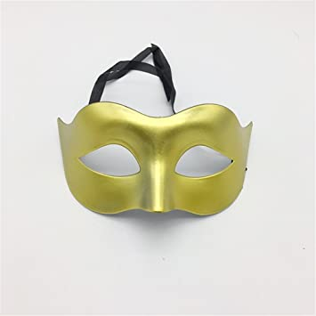 Mascara Facial Careta Protector de Cara dominó Frente Falso Glamour Hombres máscaras Halloween Disfraces Bailes máscaras