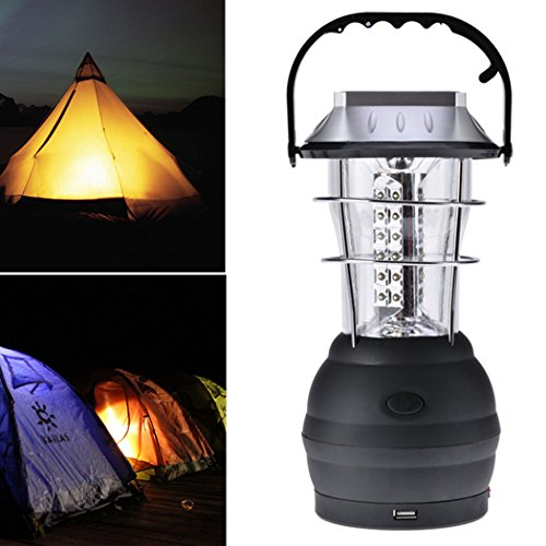 Best Camping Lantern - Solar Rechargeable LED Light by Browon | Portable, Bright, Collapsible, Lightweight | Perfect for Hiking Camping Backpacking Hunting Emergency