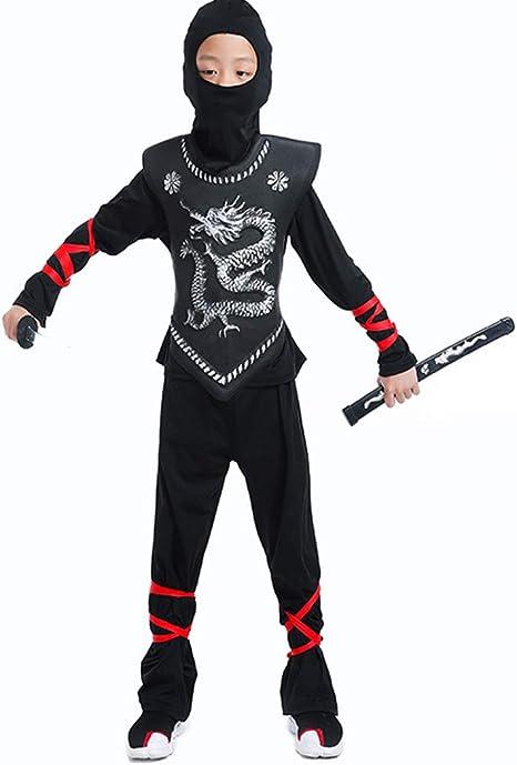 BaronHong Máscara de Disfraz de Kung fu del dragón Ninja para ...