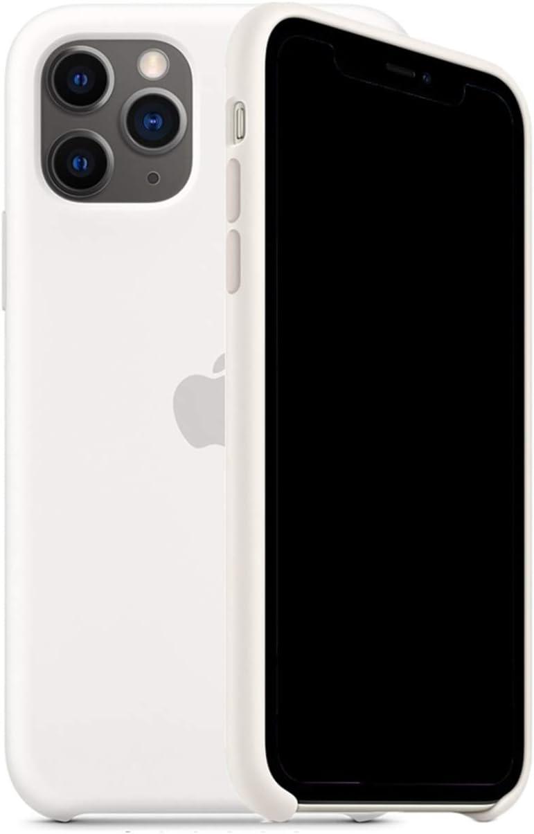 Mespirit Silicone Case Compatible for iPhone 11 Pro Max, Liquid Silicone Non-Slip and Drop-Proof Simple Style Compatible with iPhone 11 Pro Max - 6.5 inch (White)