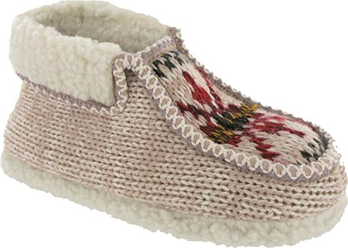 Group Five Norway Slipper Ladies Comfortable Decorated Women's Slip-On Bootees Beige a9vgj
