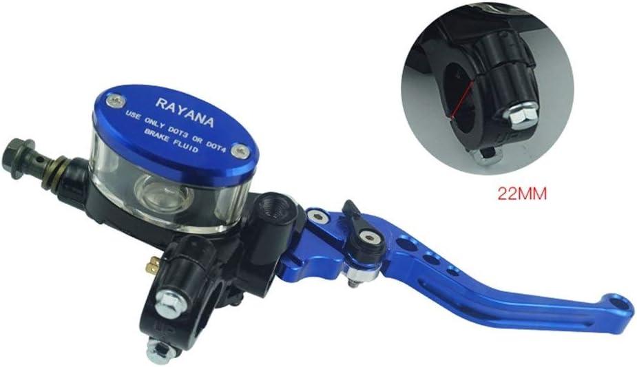 Color : Blau JFCUICAN Autoteile 1 Paar Motorrad Hauptbremszylinder Reservoir Hydraulische Bremskupplungshebel f/ür Yamaha H o n d a Suzuki