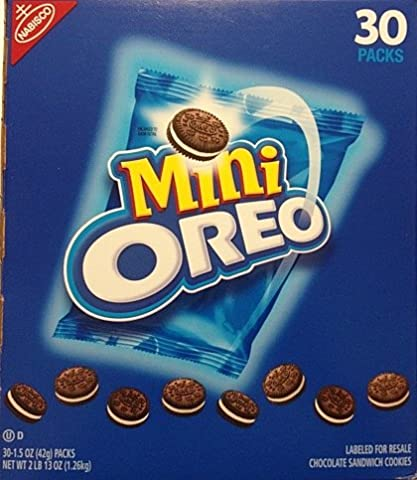 Oreo Mini Chocolate Bite Size Sandwich Cookies, 1.5-Ounce Packages (Pack of 30) (Bite Size Oreos)