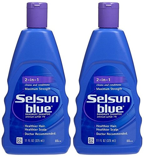 amazon com selsun blue 2 in 1 treatment dandruff shampoo 11 oz 2
