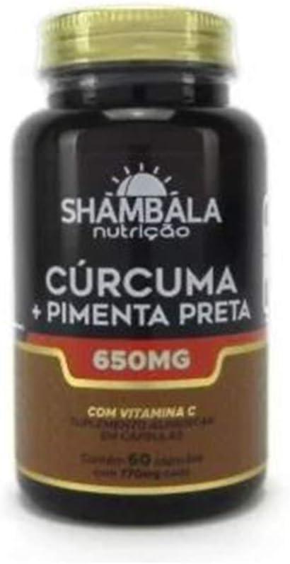 Cúrcuma com pimenta preta 60 cápsulas de 650mg - Shambala