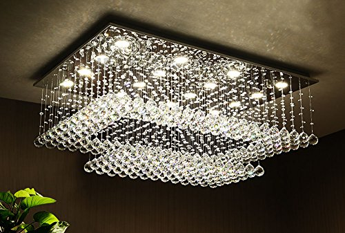 Siljoy-Modern-Contemporary-Rectangular-Chandelier-for-Living-Room-Crystal-Lighting-Fixture-H14xW36xDepth24-16-Lights