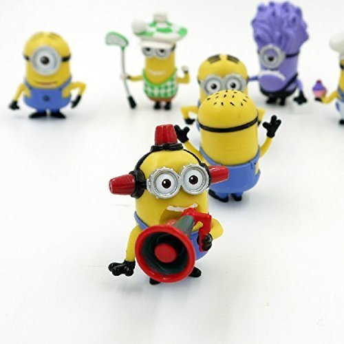 Despicable Me Minions Set of 8 Action Figures included Minion Ninja Fireman Baker Golfer Stuart Dave by Forti