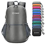 ZOMAKE Ultra Lightweight Packable Backpack Water Resistant Hiking Daypack,Small Backpack Handy Foldable Camping Outdoor Backpack Little Bag(Dimgray)