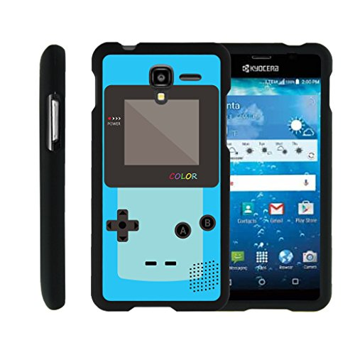 MINITURTLE Case Compatible w/ [Kyocera Hydro View Case, Hydro Reach Case, Hydro Shore Case][Snap Shell] Hard Plastic Slim Fitted Snap on case w/ Unique Designs Blue Gameboy Color
