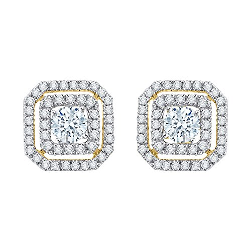 KATARINA Diamond Earring Jackets In Gold Or Silver 1/2 Cttw G-H I2-I3
