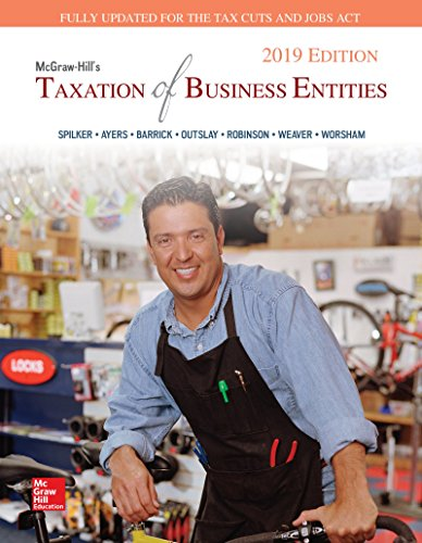 Loose Leaf for McGraw-Hill's Taxation of Business Entities 2019 Edition