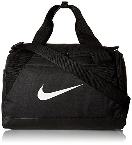 NIKE Brasilia Training Duffel Bag, Black/Black/White, X-Small