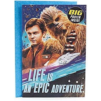 Hallmark Star Wars Birthday Greeting Card With Poster Life Is An Epic Adventure