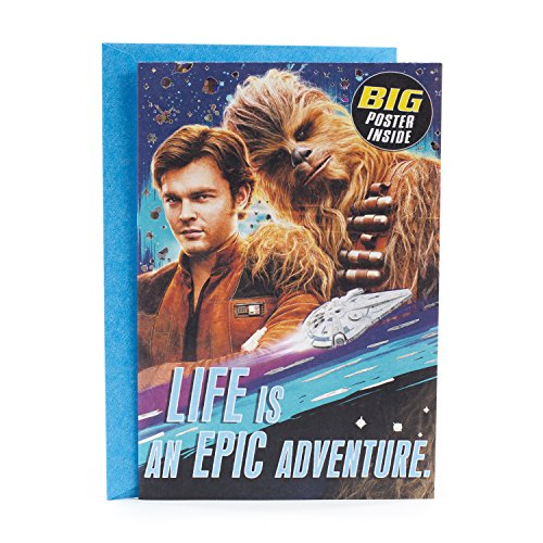 Hallmark Star Wars Birthday Card with Poster (Life is an Epic Adventure)