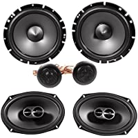 Alpine SPS-619 6x9 Coaxial Car Speakers+Alpine SPS-610C 6.5 Component Speakers