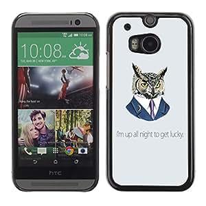 TECHCASE**Cubierta de la caja de protección la piel dura para el ** HTC One M8 ** Funny Up All Night Owl
