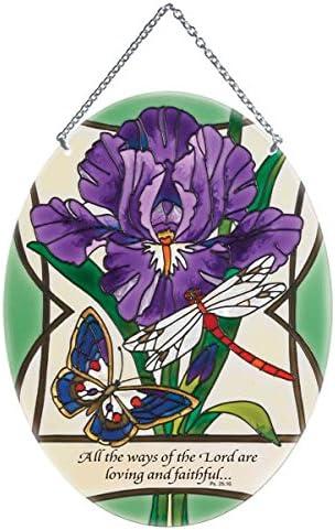 Floral Suncatcher Window Decoration Patio Decoration Glass Suncatcher Purple Suncatcher Crystal Suncatcher Silver Suncatcher