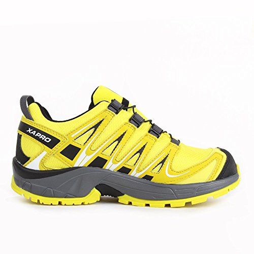 Salomon L39043500, Zapatillas de Trail Running para Niños Amarillo (Corona Yellow /             Alpha Yellow /             Dark Clo)