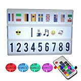 A6Size Mini Color Change Cinematic Light Box with Letters Emojis Symbols and Cartoons Light UP