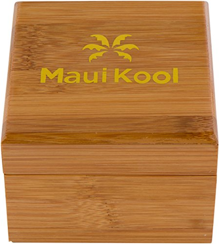 Wooden Watch For Men Maui Kool Kaanapali Collection Analog Large Face Wood Watch Bamboo Gift Box (C3 - Coffee Face) by Maui Kool (Image #4)