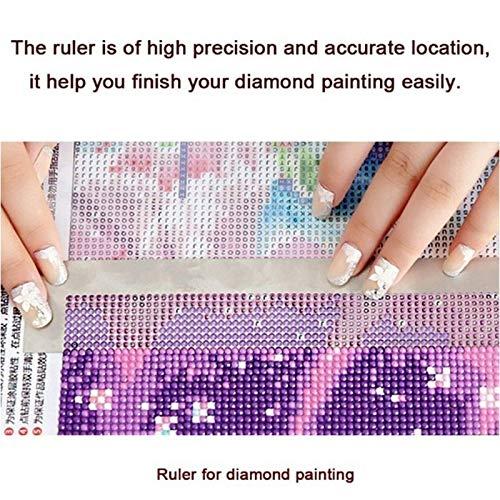 5D Diamond Painting Stainless Steel Ruler Practical Blank Grids Ruler Tool BS