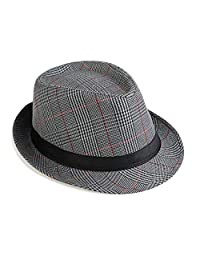 6093ee69069 Bhwin Mens Fedora Hat Light Weight Panama Cap Winter Autumn Short Brim Jazz  Hat