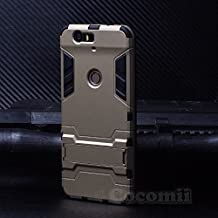 Huawei Nexus 6P Case, Cocomii Iron Man Armor NEW [Heavy Duty] Premium Tactical Grip Kickstand Shockproof Hard Bumper Shell [Military Defender] Full Body Dual Layer Rugged Cover (Gold)