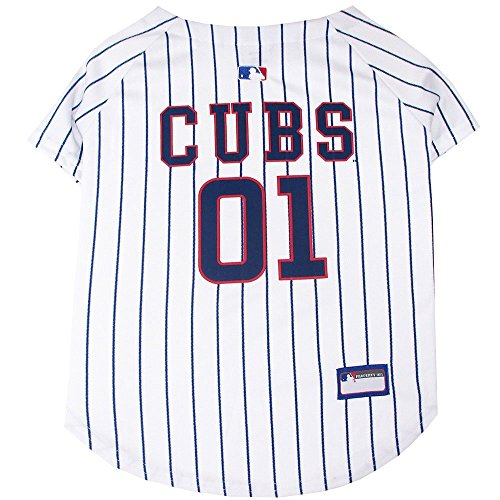 (Pets First MLB Chicago Cubs Dog Jersey, Large. - Pro Team Color Baseball)