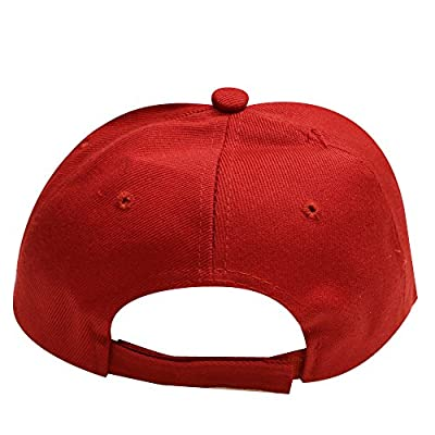 CITY HUNTER Men's Trump slogan Make America Great Again Velcro Baseball Cap, One Size, Red