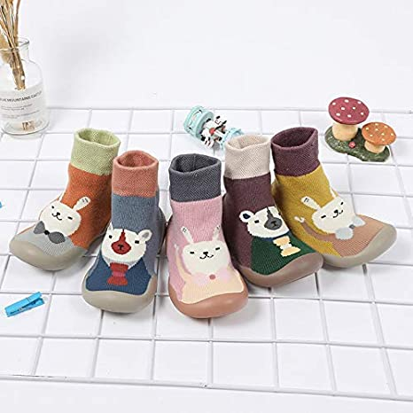 BOLANA Anti Slip Floor Socks for Baby Boys Girls Newborn Baby Step Socks Winter Moccasin Shoes Boots with Rubber Soles