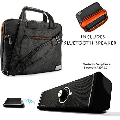 NineO Sport Nylon Shoulder Bag Carrying Case For Visual Land Prestige Tablets & Connect 9 Tab + Bluetooth Speaker