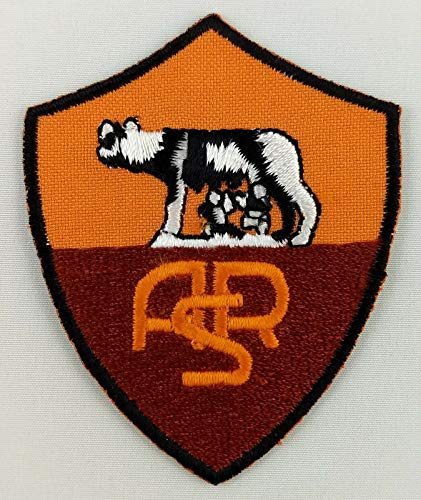 (Embroidery Patch Roma FC Football Club Soccer Badge Applique 2 1/8