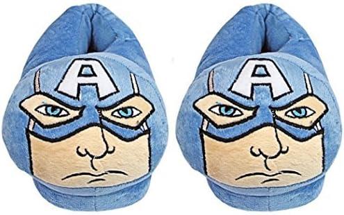 Captain America Marvel Avengers Gar/çons Bleu Pantoufles Enfants /À Enfiler