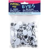 Movable Oval Wiggle Eyes 18mm Black (6 Pack)