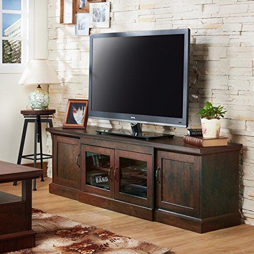 Furniture of America Walder Vintage Walnut 68-inch TV Stand