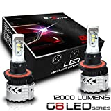 BPS Lighting G8 LED Headlight Bulbs Kit w/Clear Arc Beam 72W 12000LM 6000K - 6500K White Cree XHP50 LED Headlight Conversion for Replacement Halogen Bulb Headlights 2 Yr Warranty - (2pcs/set) (H13/9008)