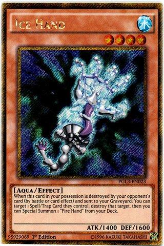 Yu-Gi-Oh! - Ice Hand (PGL3-EN023) - Premium Gold: Infinite Gold - 1st Edition - Gold Secret Rare