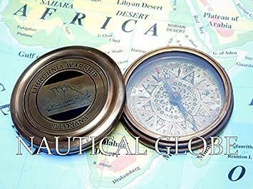 Amazon.com: Meridian Nauticals decor gift pocket compass brass ...
