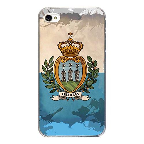"Disagu Design Case Coque pour Apple iPhone 4 Housse etui coque pochette ""San Marino"""