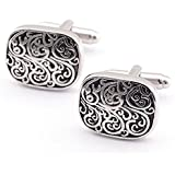 Bystar Men's Jewelry Retro pattern Shirt Cufflinks French Cuff Nails 2Ps