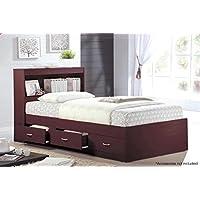 Hodedah HIBT60 Beds, Twin, Mahogany