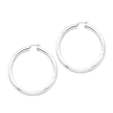 aedc0c776d54a Amazon.com: 925 Sterling Silver 5mm Hoop Earrings Ear Hoops Set ...